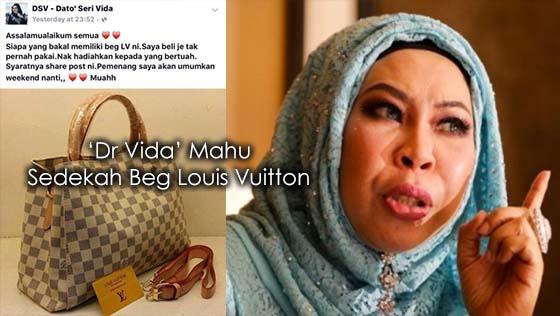 1 Malaysia Tertipu, 'Dr Vida' Mahu Sedekah Beg Louis Vuitton