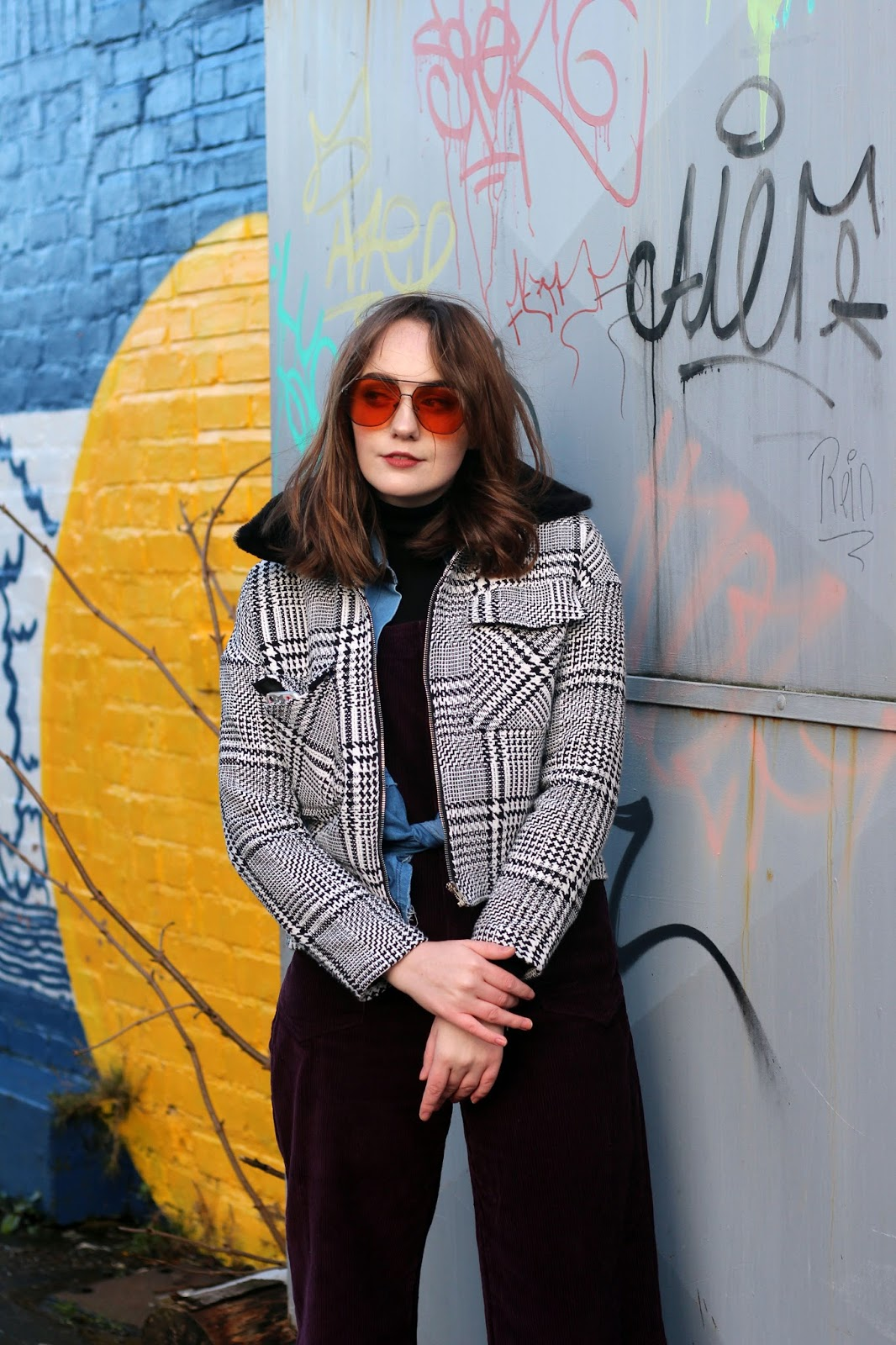 UK fashion blogger 70s inspired street style styling dungarees