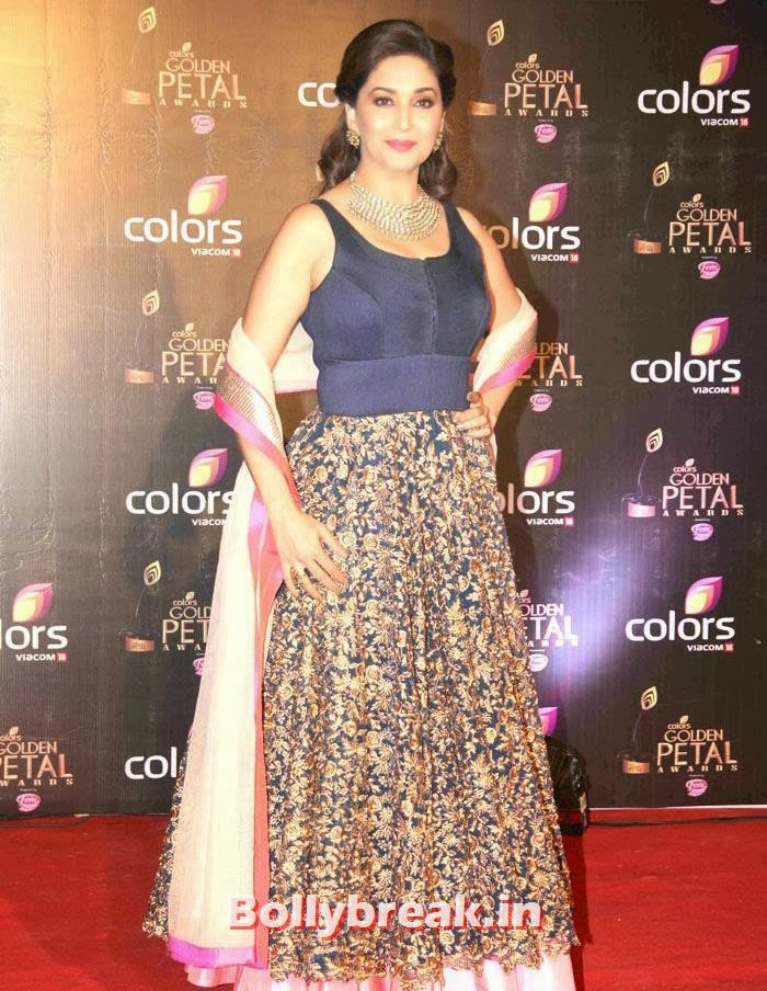 Madhuri Dixit, Colors Golden Petal Awards Dec 2013 Photos