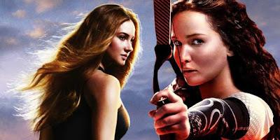 Tris dans Divergente et Katniss dans Hunger Games