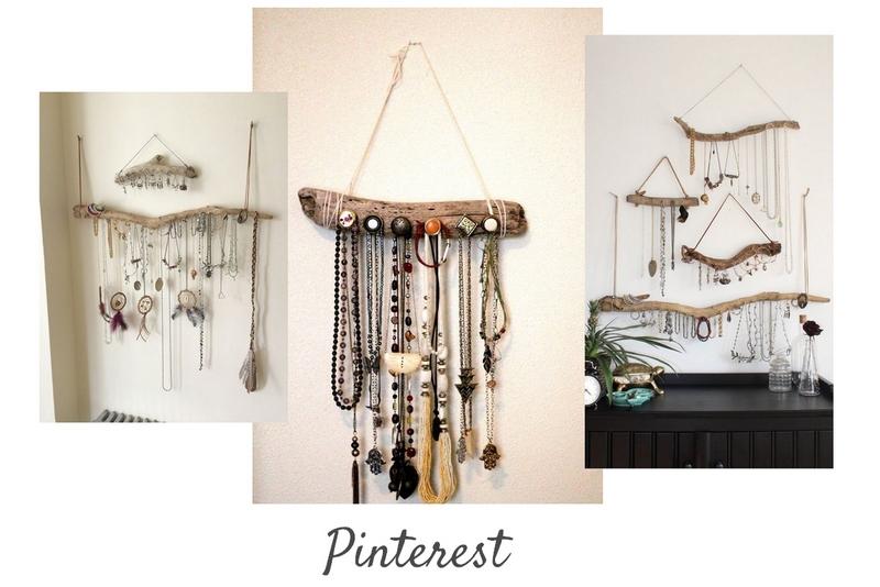 DIY : Un porte-bijoux en bois flotté - Inspirations Pinterest  / www.by-laura.fr