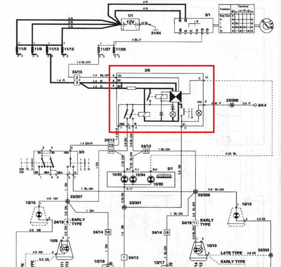Skyter 神奇筆記 (築成): VOLVO 850 方向燈閃爍器修復