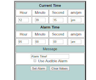 CSG Time Alarm Clock