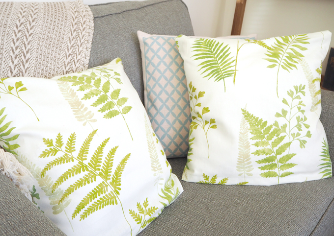 DIY Interiors Botanical Cushion Tutorial