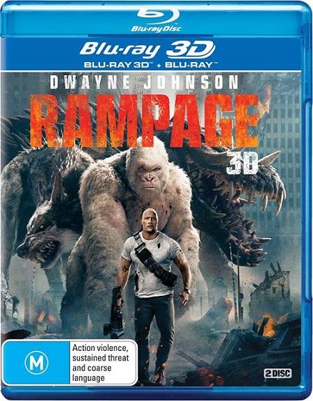 Rampage: Devastación 3D (2018) m1080p BDRip 3D Half-OU 15GB mkv Dual Audio DTS-HD 7.1 ch