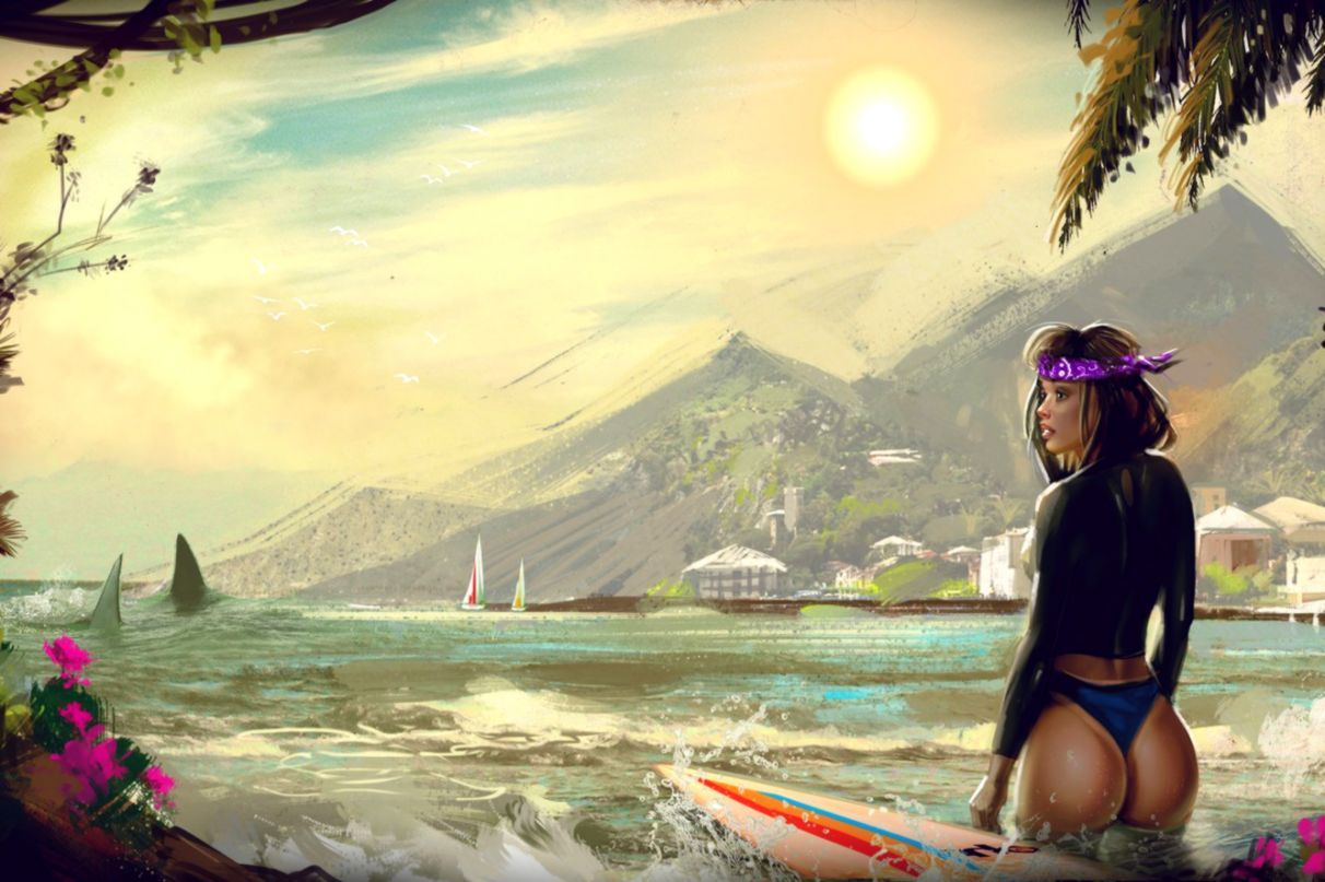Girl Surfing Sports Wallpaper Wallpapers Nature