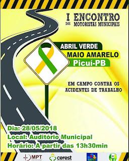 Evento destinado aos motoristas do município será realizado em Picuí