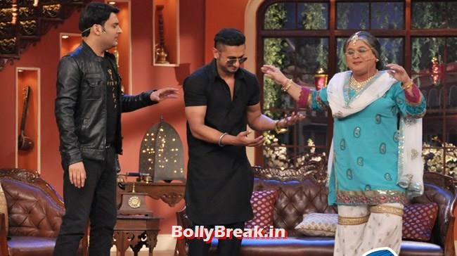 Kapil Sharma, d Ali Asgar, Honey Singh on Comedy Nights With Kapil
