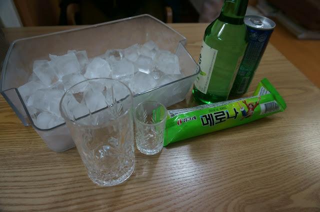 Ingredients for Korean cocktail