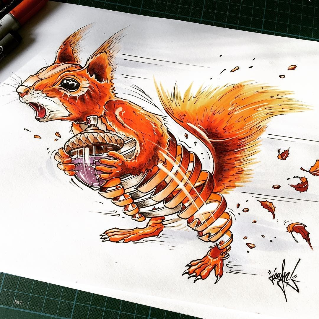 15-Red-Squirrel-JAYN-ABS-Crew-Slice-Animal-Portraits-Stylised-Looks-www-designstack-co