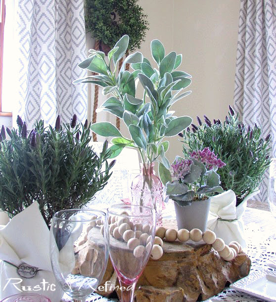 Ideas for Entertaining - setting a winter table.