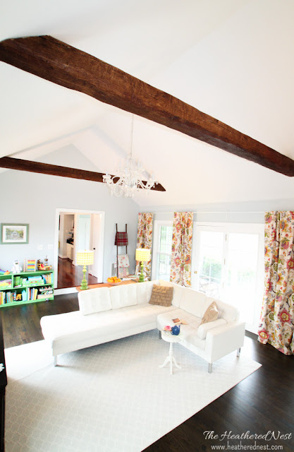 Faux Ceiling Beams by The Heathered Nest