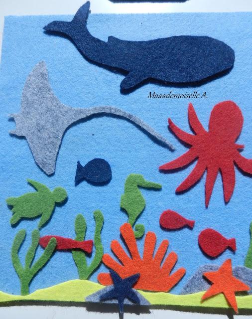 DIY : Tableau en feutrine, le monde marin