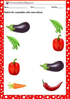 vegetable worksheet