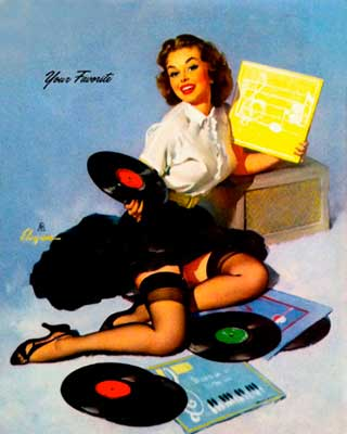 Gil Elvgren pin-up music