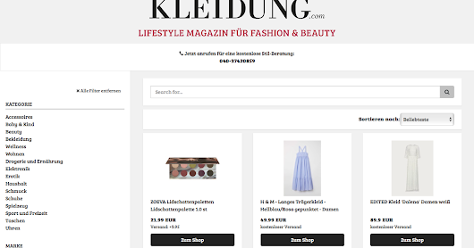 Make online shopping easier with Kleidung.com