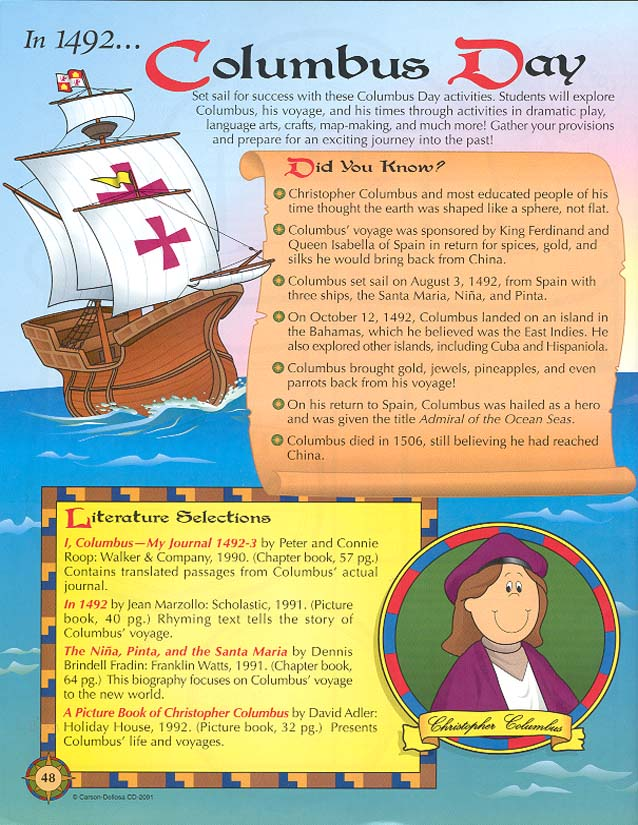 Storytime and More: Columbus Day
