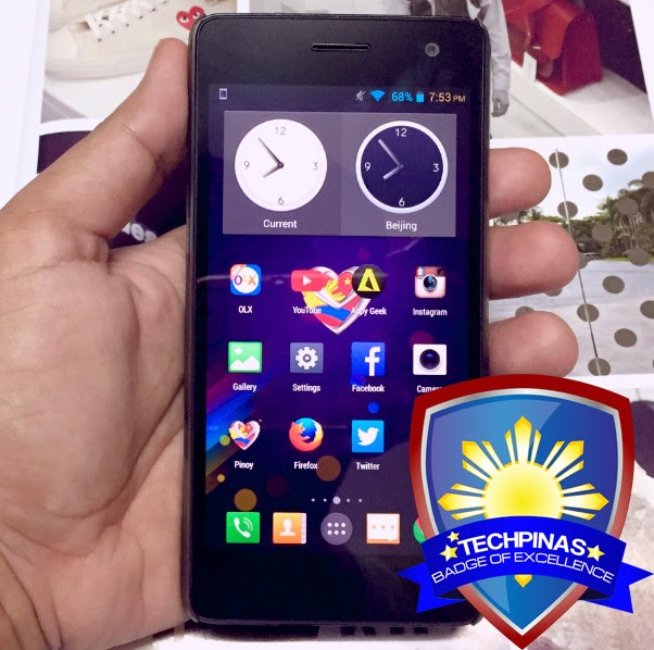 MyPhone Agua Infinity, TechPinas Badge of Excellence