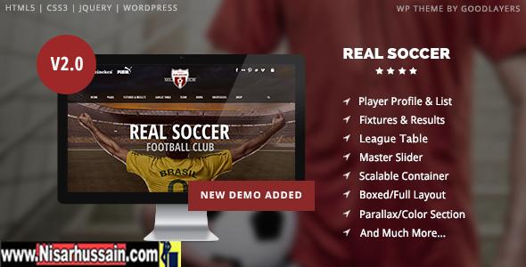 Real Soccer - Sport Wordpress Premium Theme