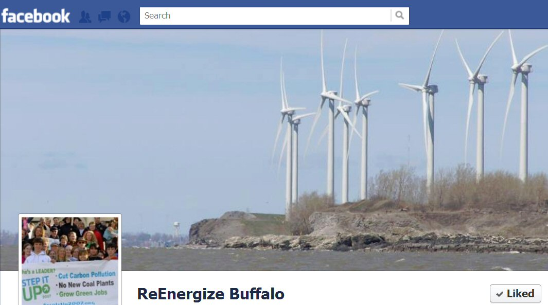 """Like"" Re-Energize Buffalo on FaceBook"