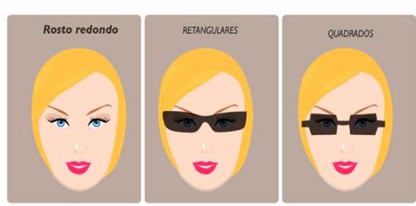 Redondo  são cheios, sem definição da mandíbula. Procure óculos com um  desenho que pareça alongar o seu rosto e deixá-lo com aparência de mais  magro. a4cfe92c2c