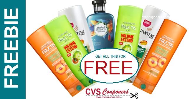 FREE Garnier Fructis, Pantene & Herbal CVS Deal - 4/28-5/4