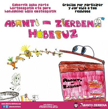 Los dibujos de tres jóvenes de Abanto decorarán los contenedores marrones