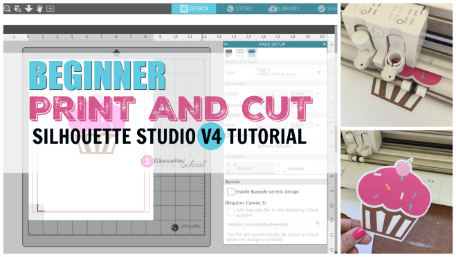 Beginner Silhouette Print and Cut Tutorial for V4 (Free Silhouette Design File)