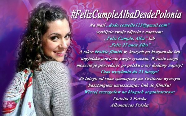 [Akcja] #FelizCumpleAlbaDesdePolonia