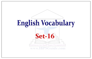 SBI PO Exam- English Vocabulary Set-16