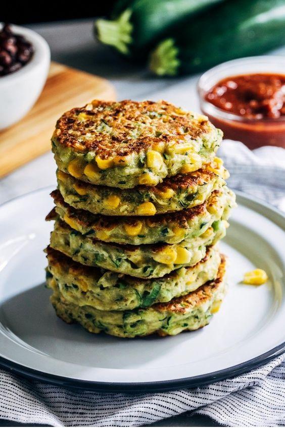 Healthy Vegan Zucchini Fritters
