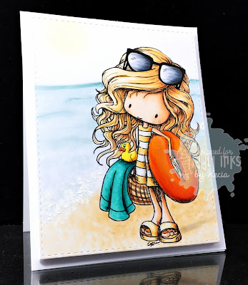 Tiddly Inks, Kecia Waters, Copic markers, beach, summer