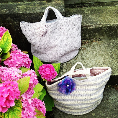 crochet tote bags on Etsy and Dawanda