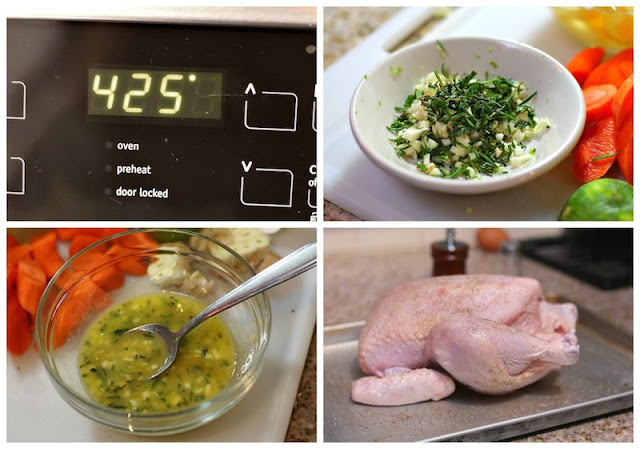 Roast chicken recipe Pollo al horno
