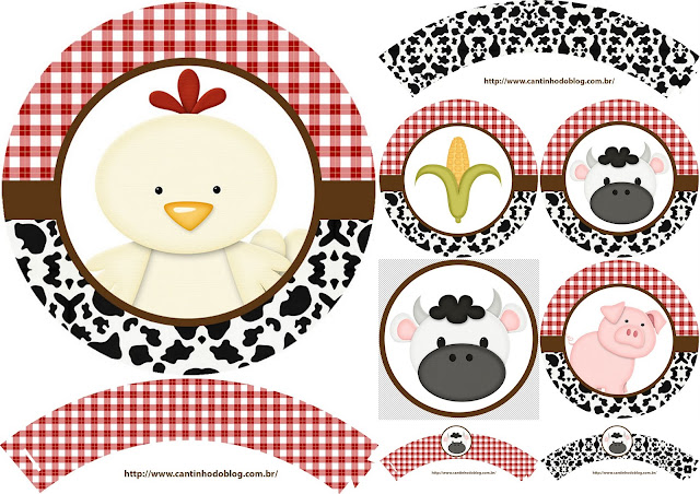 Baby Farm: free Printable wrappers and toppers.