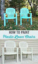 Spray Paint Plastic Lawn Chairs Dans Le Lakehouse