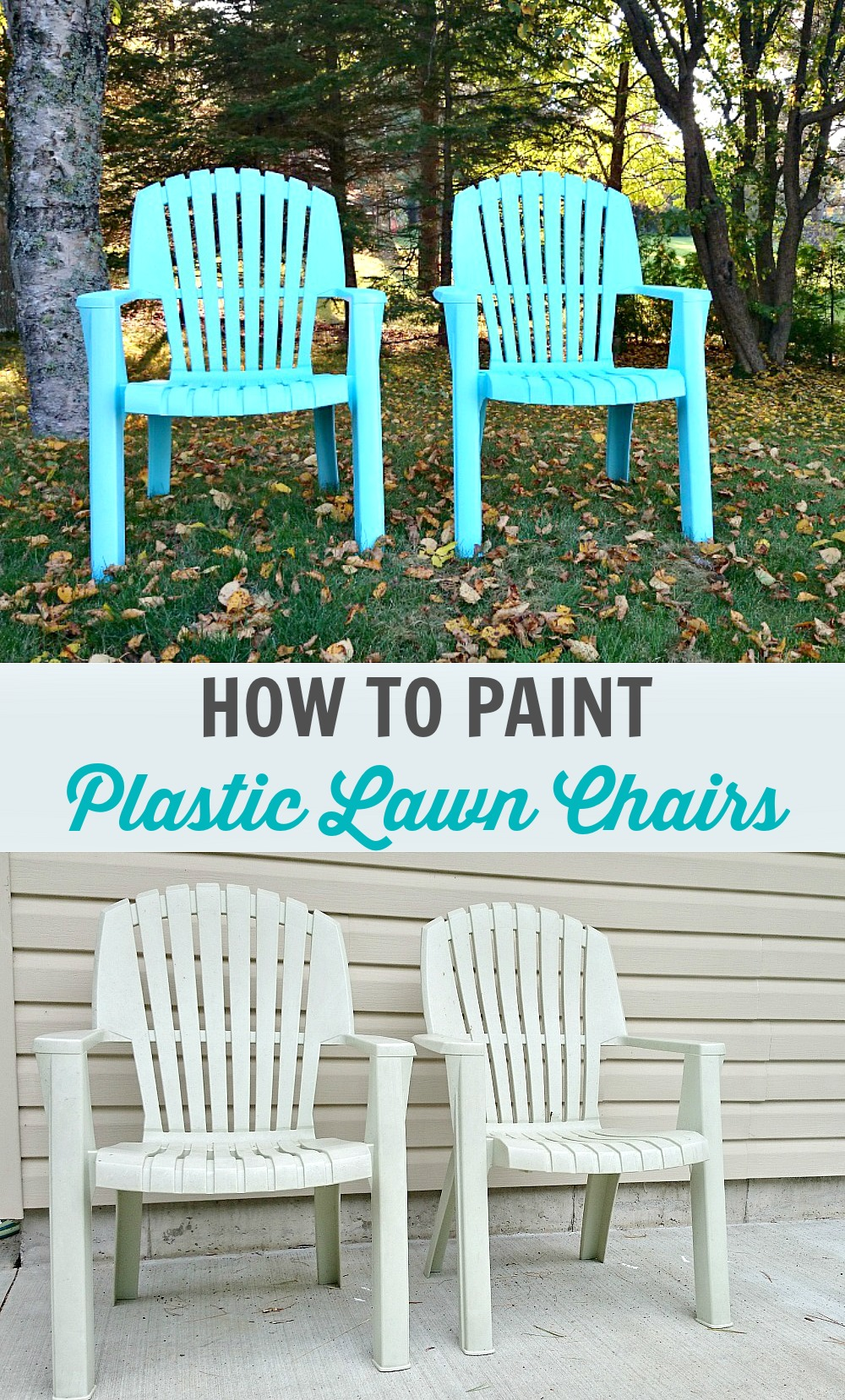 How To Spray Paint Plastic Lawn Chairs By @danslelakehouse ...