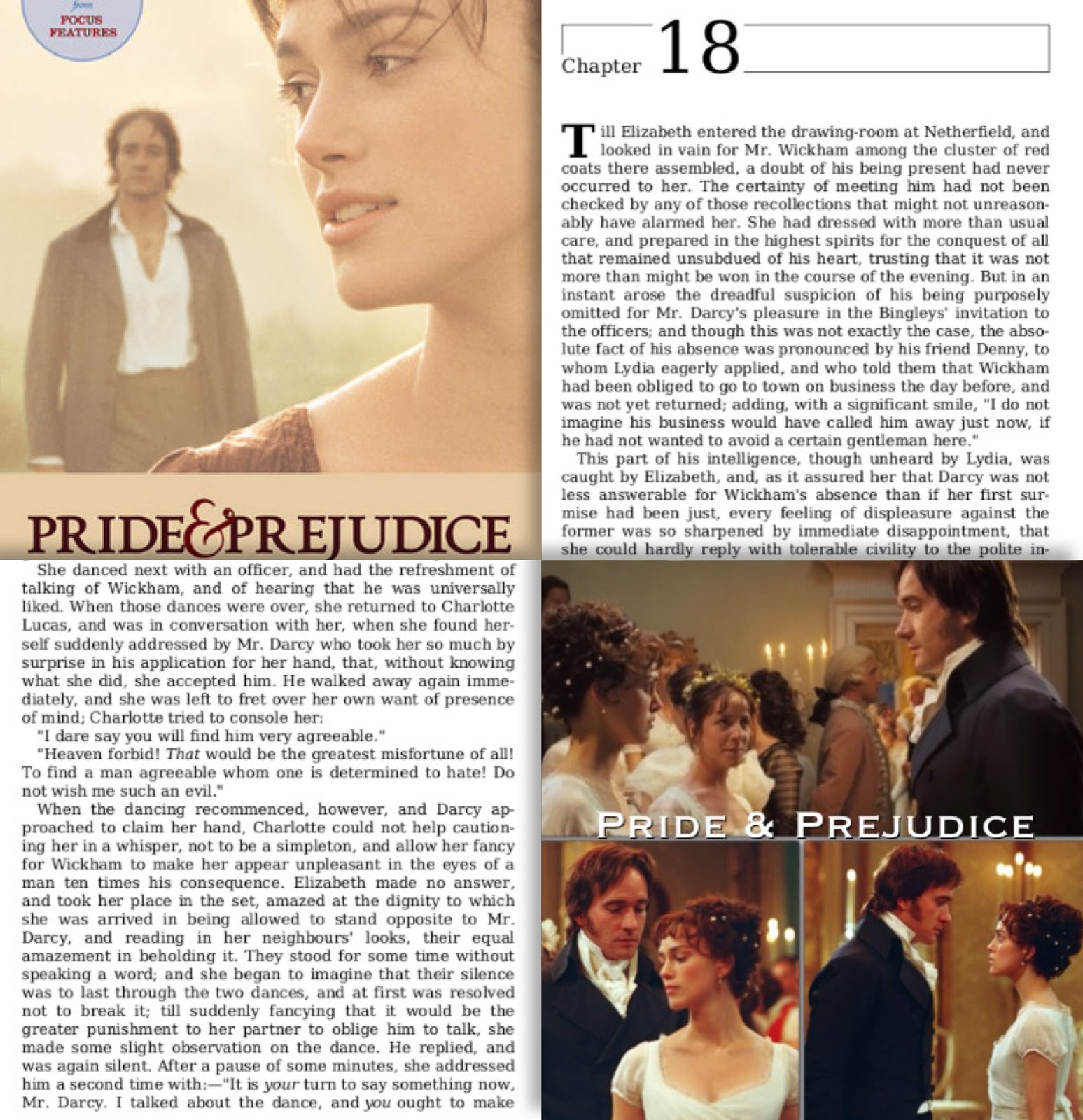 "chapter 6 pride and prejudice He generously imputed the whole to his mistaken pride about ""pride and prejudice - chapter lii"" 6 pride and prejudice - chapter vi."