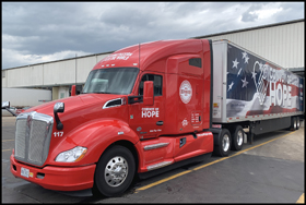 Convoy of Hope Kenworth T680 tractor-trailer