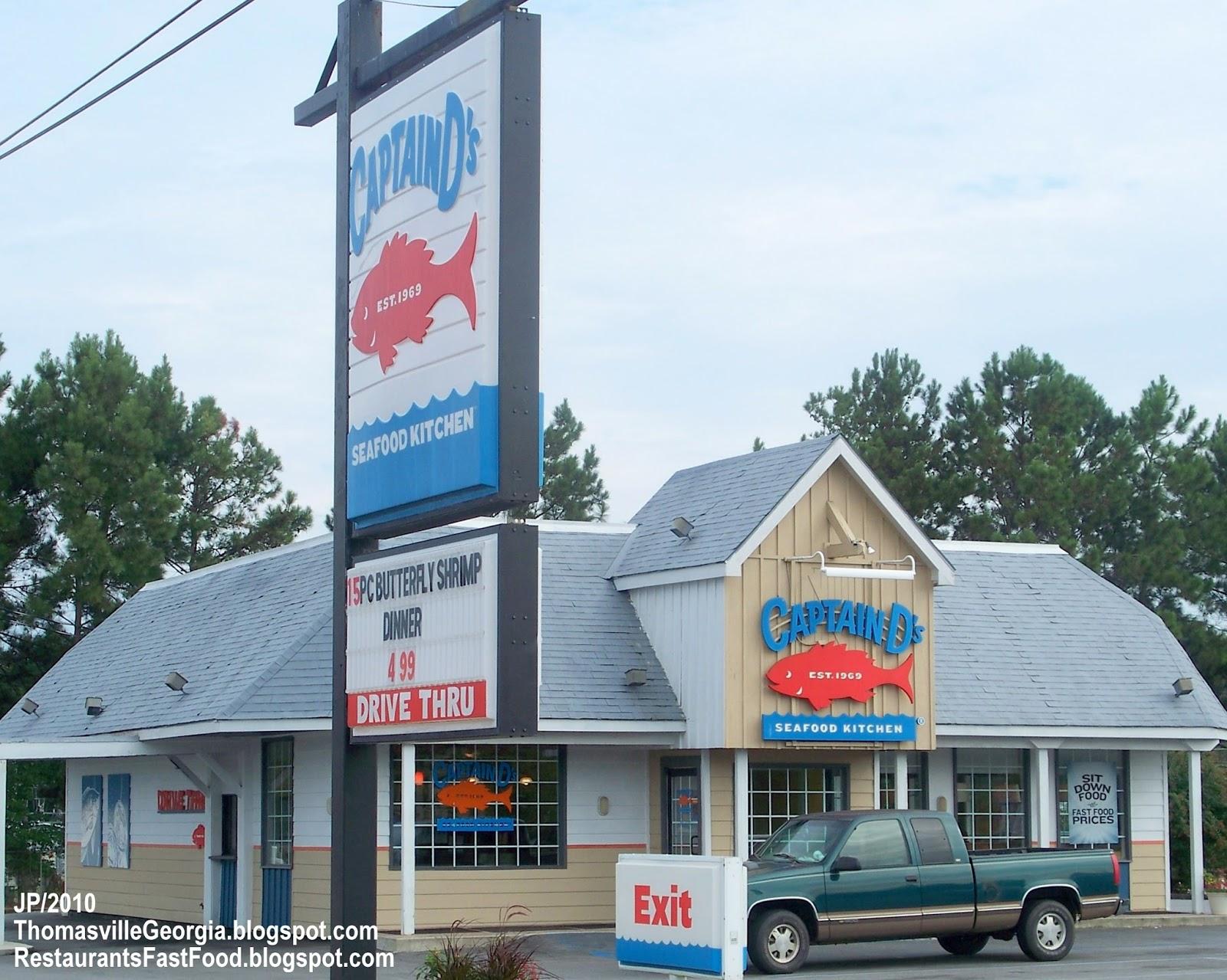 Captain D S Thomasville Georgia E Jackson St Seafood Kitchen Fast Food Restaurant Ga