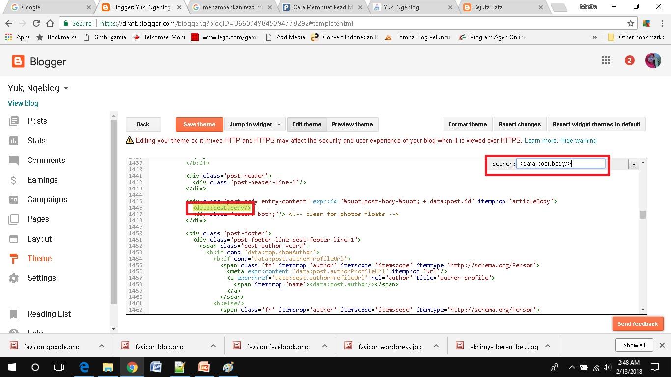 cara mudah menambahkan read more pada blogspot kode html