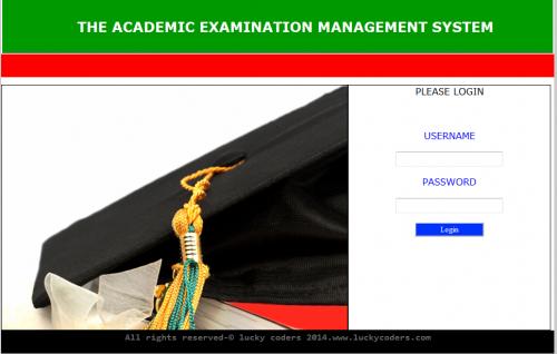 Academic Examination Management System (PHP)
