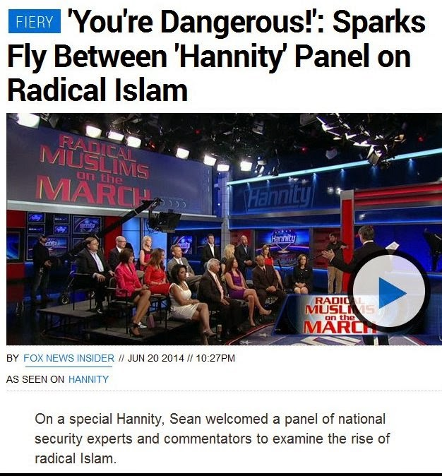 You are dangerous Hannity panel on Radicals