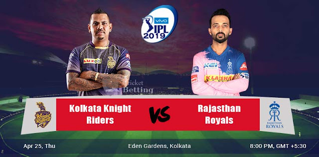 IPL 2019 KKR vs RR Dream 11 Team Prediction, fantasy Cricket Tips