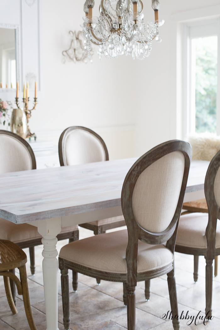 how to whitewash a farmhouse table in 30 minutes | shabbyfufu