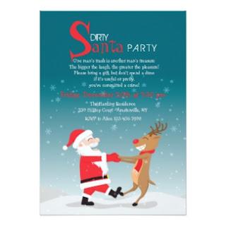 white elephant gift exchange invite invitation card