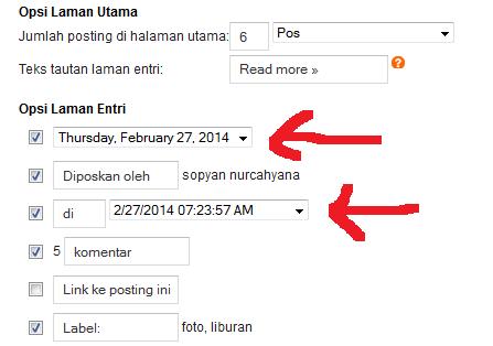 menampilkan waktu publish artikel agar seo