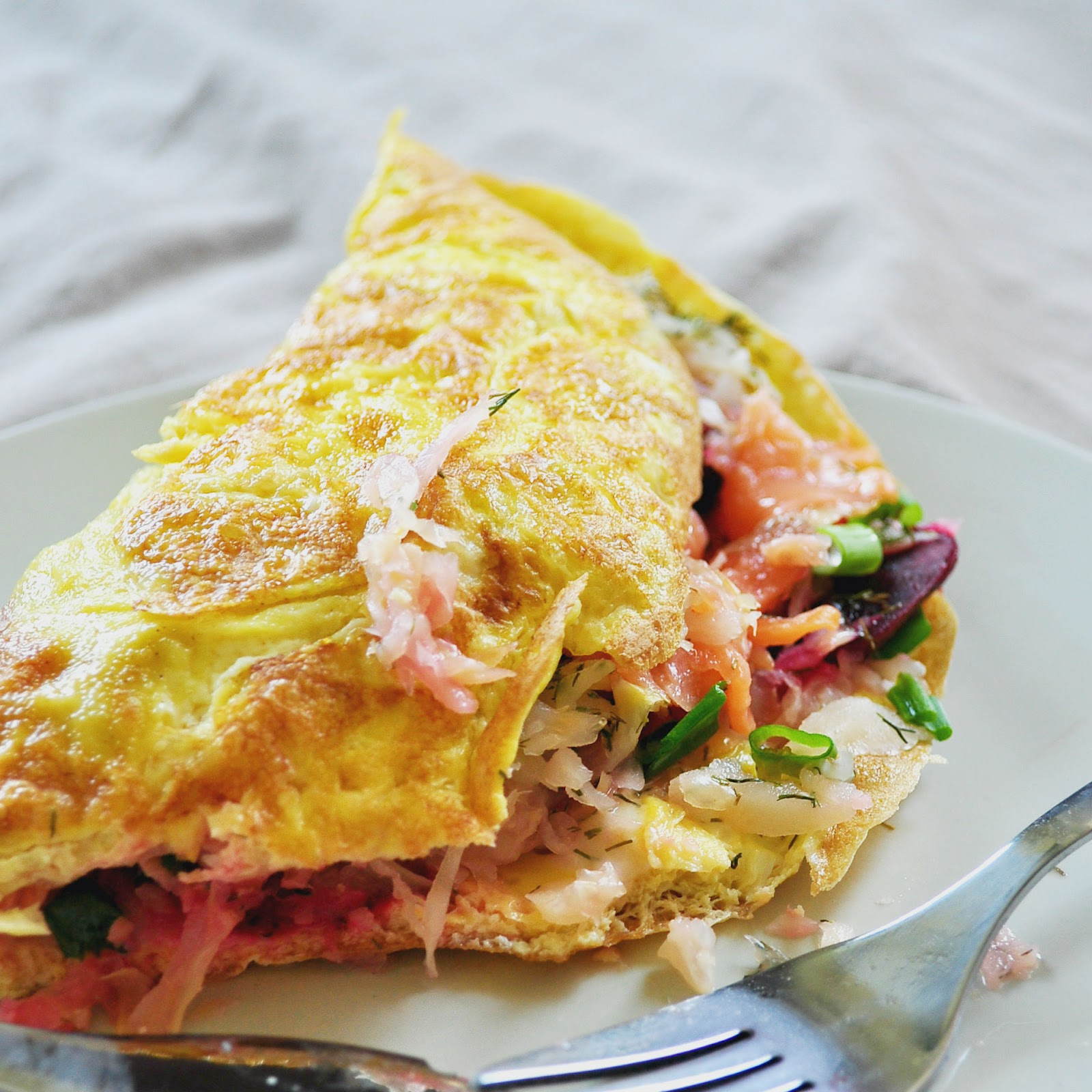 Burpees In The Kitchen Omelette With Smoked Salmon