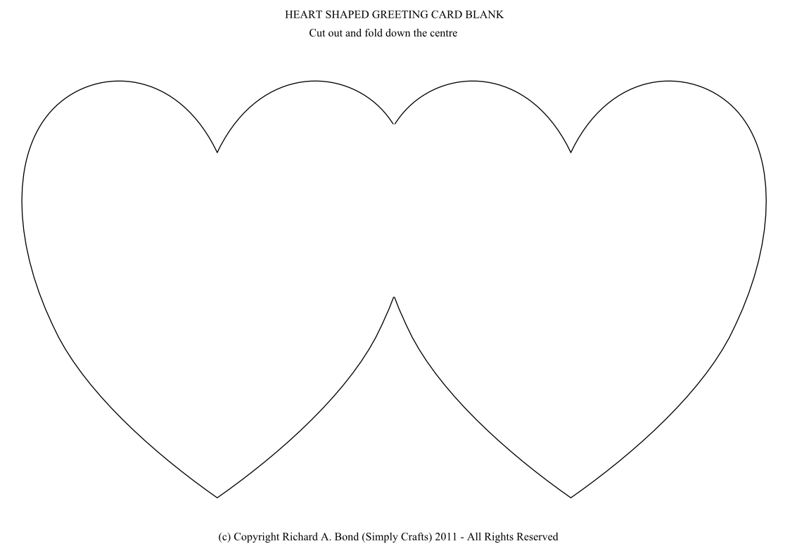 Simply Crafts Heart Shaped Greeting Card Blank