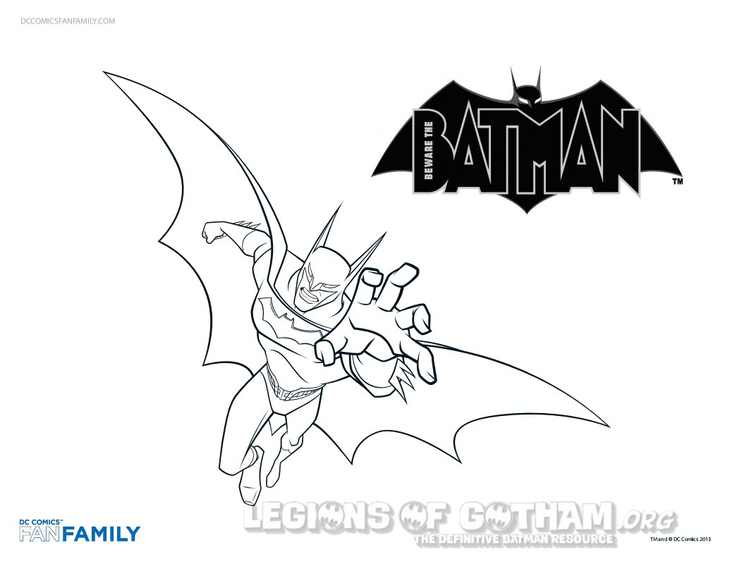 Beware The Batman Coloring Pages Geek News Superhero